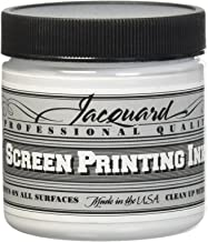 Jacquard JAC-JSI1119 Screen Printing Ink, 4 oz, Super Opaque White