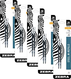 Zebra G-301 Stainless Steel Pen JK-Refill, Fine Point, 0.7mm, Black Ink, 2-Count, Pack of 5 (Total 10 refills)