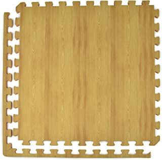 Greatmats Wood Grain Double Sided Foam Tiles, Interlocking 2x2 Ft x .5 Inch Wood Design Look Foam Flooring, 25 Pack (Light)