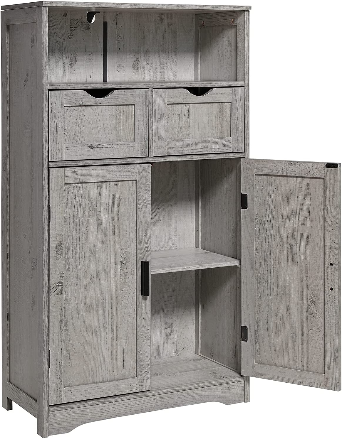IWELL Large Storage Cabinet Special price for a limited time NEW with Shelve Drawers 2 Adjustable