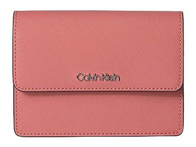 Calvin Klein Hayden Saffiano Leather Crossbody (Porcelain Rose) Cross Body Handbags