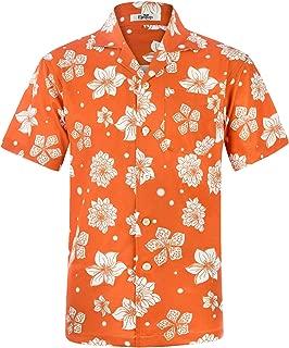Men's Hawaiian Shirt Short Sleeve Aloha Shirt Beach Party Flower Shirt Holiday Print Casual Shirts L3