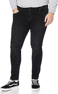 Urban Classics Slim Fit Knee Cut Denim Pants Jeans Uomo