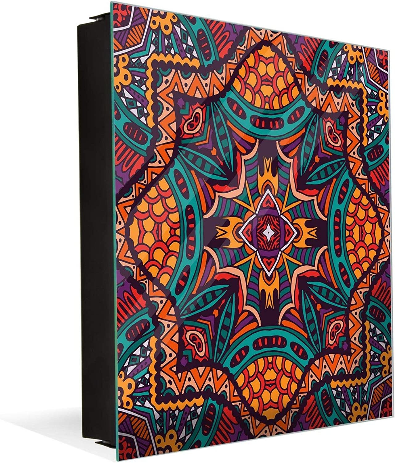Concept Crystal Key Cabinet Together with Magnetic Glass Markerboard K01 Ethnic Print