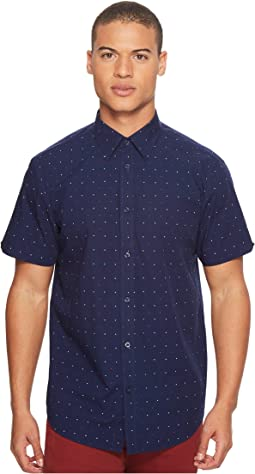 Ben Sherman - Short Sleeve Red/White Dot Print Shirt