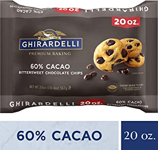 Ghirardelli 60% Cacao Bittersweet Chocolate Premium Baking Chips - 20 oz. (567g)​, 10 bags