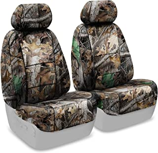 Coverking Front 50/50 Bucket Custom Fit Seat Cover for Select Toyota Tacoma Models - Neosupreme (Realtree Advantage Timber Camo Solid)