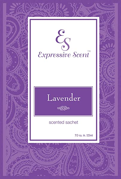 6 Pack Lavender Large Scented Sachet Envelope By Expressive Scent