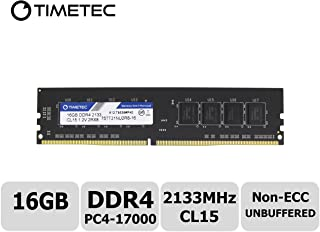 Timetec Hynix IC 16GB DDR4 2133MHz PC4-17000 Non ECC Unbuffered 1.2V CL15 2Rx8 Dual Rank 288 Pin UDIMM Desktop PC Computer Memory Ram Module Upgrade (16GB)