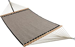 ELC 11 Feet Quick DryHammock with Spreader Bars, Double Hammocks with Chain, Hanging Kits and Hooks, Fit for Outdoor Patio Yard Poolside, Mocha