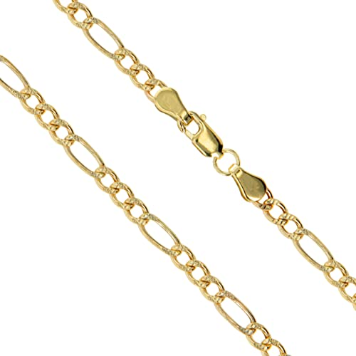 cec70f956f614f Real 10k/14k Yellow Gold CHOOSE YOUR WIDTH Figaro Link Chain Necklace