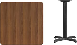 Flash Furniture 30'' Square Walnut Laminate Table Top with 22'' x 22'' Table Height Base