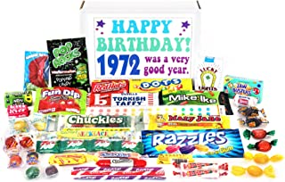 Woodstock Candy ~ 1972 47th Birthday Gift Box of Nostalgic Retro Candy Mix from Childhood for 47 Year Old Man or Woman Born 1972 Jr