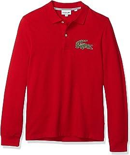 Mens Long Sleeve Heavy Pique Winter Regular Fit Polo Shirt
