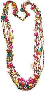 DCA Multicolor Shell/Glass Women Necklace (4148)