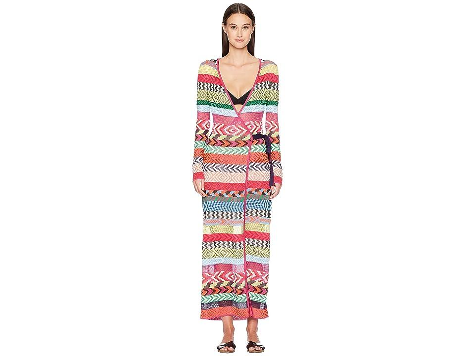 Mary Katrantzou Oceania Dress Fira Stripe Knit Cover-Up (Multi) Women