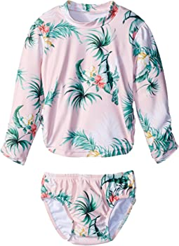 Seafolly Kids - Hawaiian Rose Rashie Set (Infant/Toddler)