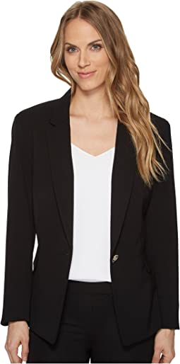 One-Button Long Sleeve Jacket