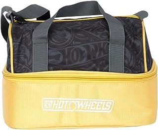 Hot Wheels Polyester 24 cms Black & Yellow Messenger Bag (MBE-MAT332)