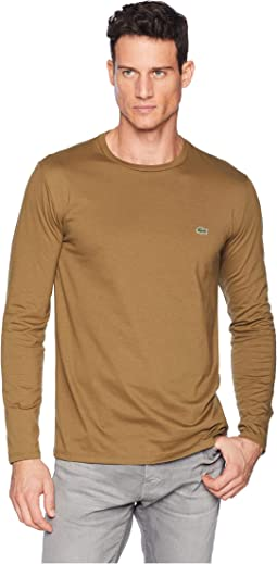 Long Sleeve Pima Jersey Crew Neck T-Shirt
