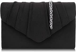 Milisente Women Evening Bag Velvet Pleated Clutch Purse Envelope Clutches
