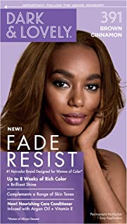 Permanent Hair Color by Dark and Lovely Fade Resist I Up to 100% Gray Coverage Hair Dye I Brown Cinnamon 391 I SoftSheen-Carson I Packaging May Vary