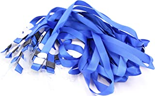 Bulk Lanyards for Id Badges - 30 Piece Nylon Neck Lanyard Sturdy Badge Straps with Plastic Clip Hook 19 inch Long for ID Cards, Name Tag Holder, Key Chains - Ideal for Club Members Workers Teachers