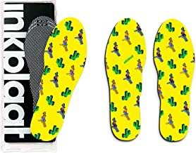 Inkblaat Odor Fighting Insoles - 24 Designs - Quirky, Fashion, Eco-Friendly Shoe Inserts - Medium - Stand-Off