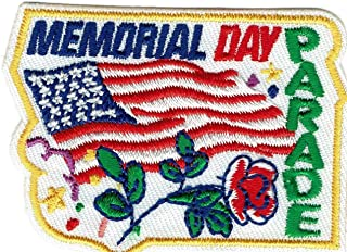 2pcs Girl Boy cub Memorial Day Parade Rose Celebration Patches Badges Scouts Guides