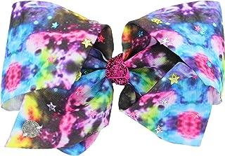 JoJo Siwa Large Cheer Hair Bow for Girls - Tie-Dye Galaxy with Star Rhinestones