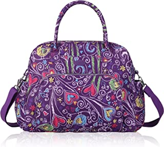 Lily & Drew Carry On Weekender Overnight Travel Shoulder Bag for 15.6 Inch Laptop Computers for Women Medium purple LWO000...