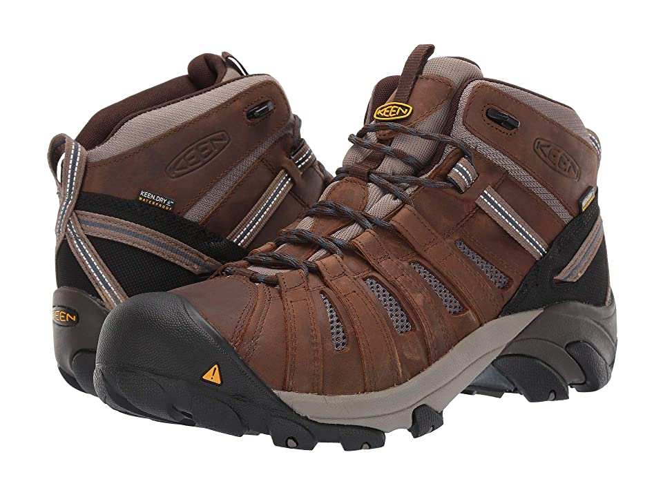 Keen Utility Cody Mid Steel Toe Waterproof (Cascade Brown/Blue Steel) Men
