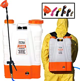 PetraTools 4 Gallon Battery Powered Backpack Sprayer – Extended Spray Time Long-Life Battery - New HD Wand Included, Wide ...