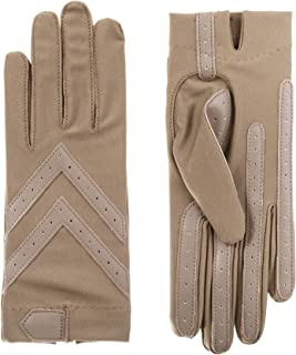 Isotoner Short Tech Touch Driving Gloves, Taupe, Large/Extra Large