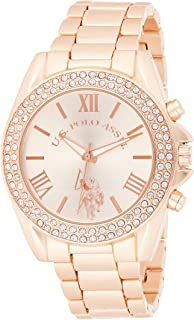 U.S. Polo Assn. Women's Quartz Watch, Analog Display and Gold Plated Strap USC40037