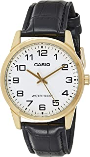 Casio Casual Watch For Men Analog Leather - MTP-V001GL-7