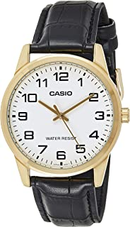 Casio Men's Dial Leather Band Watch - MTP-V001GL-1