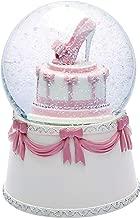 J JHOUSELIFESTYLE Happy Birthday Snow Globe Birthday Cake Design, High-Heel Rotating as Music Plays, Perfect Birthday Snowglobe Music Boxes for Women Girls
