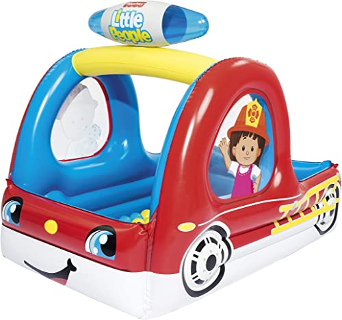 discount Fisher-Price new arrival 93531E Fire Truck - Fire Truck Inflatable Ball online Pit, Red online