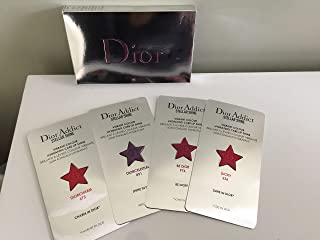 DIOR Dior Addict Stellar Shine Lipstick, Set of 4 Sample Cards, Lucky 536, Be Dior 976, Diorcelestial 891, and Diorcharm 673