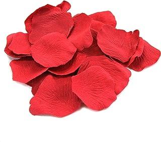 Koyal Wholesale 1000-Pack Silk Rose Petals True Red