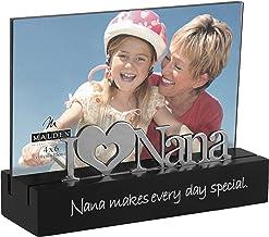 إطار صورة نانا لسطح المكتب مع كلمة فضية، مقاس 10.16 × 15.24 سم، أسود من شركة مالدن إنترناشونال ديزاينز