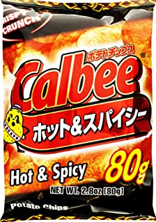 Calbee Potato Chips Hot & Spicy, 2.8 Ounce (Pack of 24)