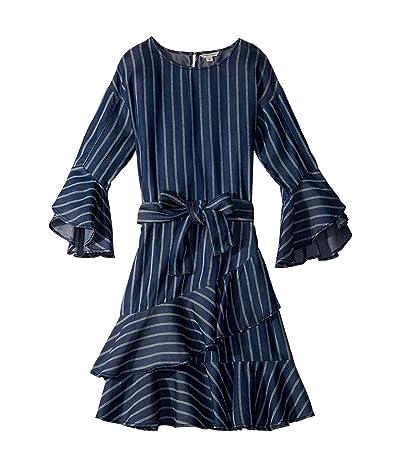 HABITUAL girl Serena Stripe Tencel Dress (Big Kids) (Stripe) Girl