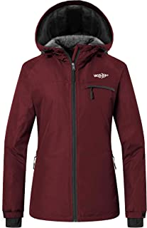 Wantdo Women's Mountain Ski Fleece Jacket Waterproof Windproof Snow Rain Coat