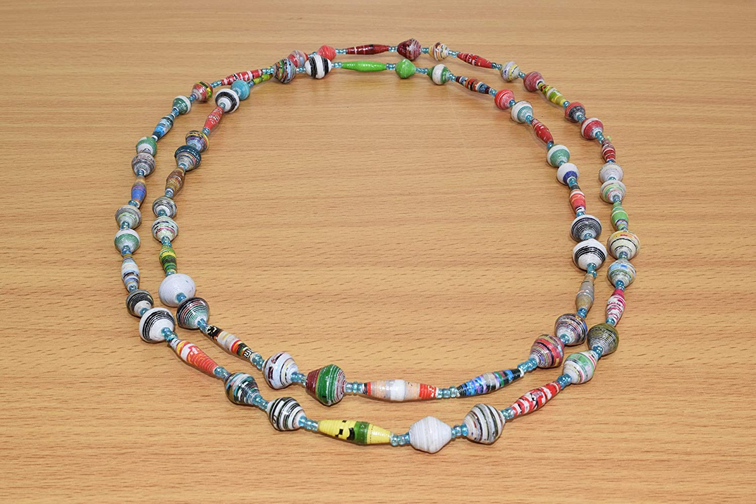 Handmade African Necklace Made Brand new of - Beads Recycled Portland Mall Paper Handmad