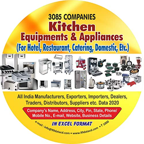 3 085 Companies Kitchen Equipments Appliances For Hotel Restaurant Catering Domestic Etc Data In Excel Format