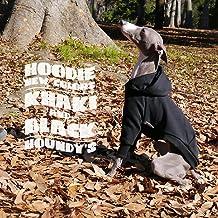 プルオーバー フーディー#02 イタリアングレーハウンド服 イタグレ服 犬服 (ブラック, S)