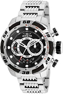 Invicta 25478 Speedway Men's Wrist Watch Stainless Steel Quartz Black Dial, Analog Display