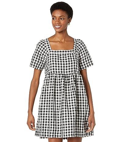 Madewell Linen Blend Allie Mini Dress in Gingham Check